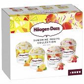 Haagen-dazs minipot white peach raspberry+lemon mandarine 324G - 4x95ml