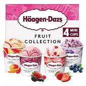 Haagen-dazs minicup fruit collection 326G - 4x95ml