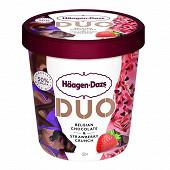 Haagen-dazs pot duo belgian choc & strawberry 360g