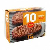 Chiron burger de boeuf 51% - 15 % mg 10 x100g 1 kg