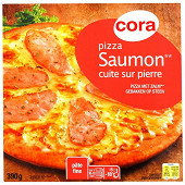 Cora pizza saumon cuite sur pierre 390g