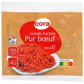 Cora viande hachée pur boeuf 15% mg VBF 400g