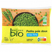 Nature bio petits pois bio 600g