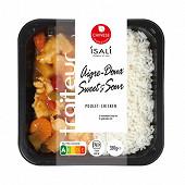 Poulet aigre doux avec riz basmati 350g