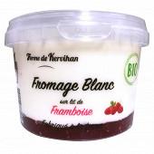 Fromage blanc bio sur lit de framboise 500g