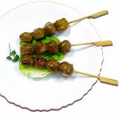 Tsukune boulettes japonaises de poulet enrobées de sauce soja 200g