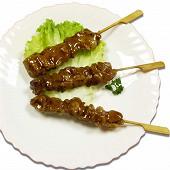 Yakitori brochettes japonaises de poulet enrobées de sauce soja 200g