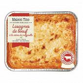 Lasagne boeuf race limousine 900g Maison Tino