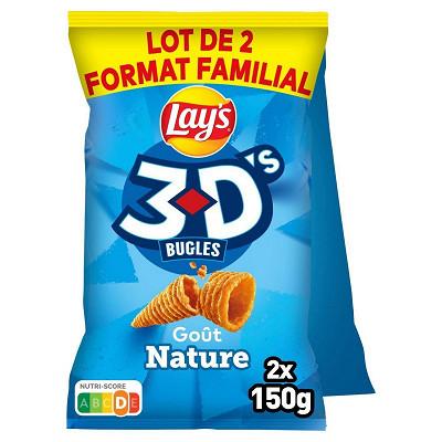 Bénénuts Lays 3d's nature lot de 2x150g