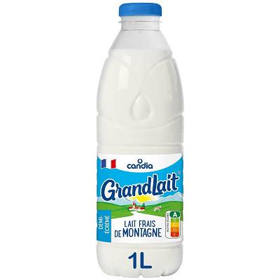 Candia Grandlait lait frais de montagne 1/2 écrémé 1l