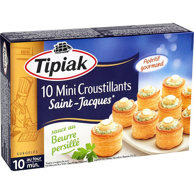 Tipiak Tipiak 10 mini croustillants Saint-Jacques 120g