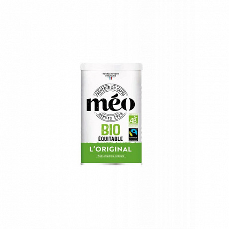 Cafe meo boite metal biologique max havelaar moulu 250g