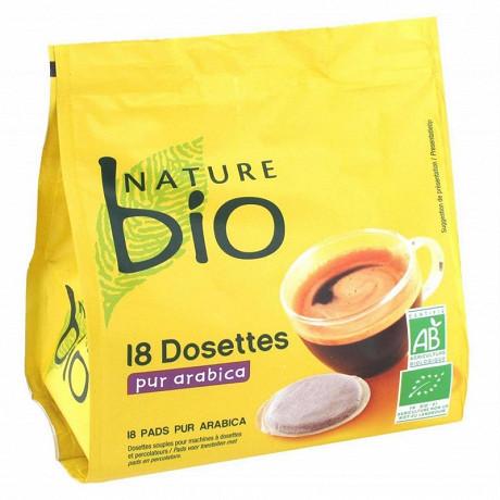 Nature bio café dosettes souples x 18 pur arabica 125g