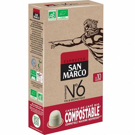 San marco N°6 10 capsules bio/compostable 51g