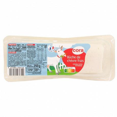 Cora bûche de chèvre frais 17%mg  250g