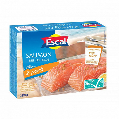 Escal 2 pavés de saumon asc 250g