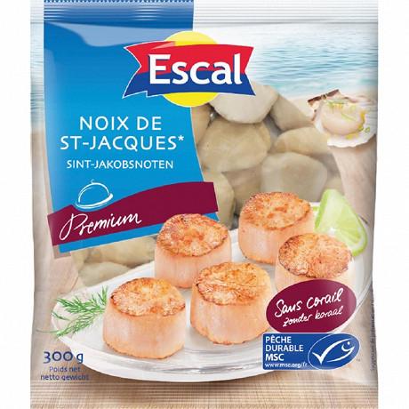 Escal noix de St Jacques sans corail MSC 300g