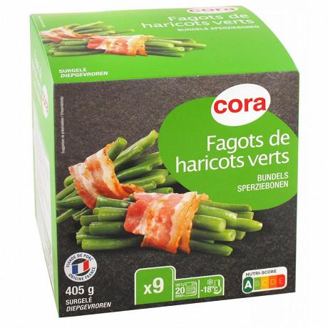 Cora fagots haricots verts lardes 405g