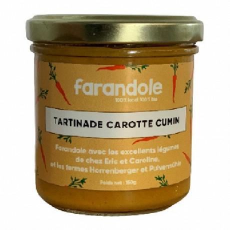 Tartinable Carotte Cumin pot 150g 100% BIO 100% Alsace