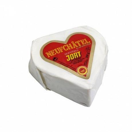 Coeur de neufchatel aop jort 200g  lait pasteurisé
