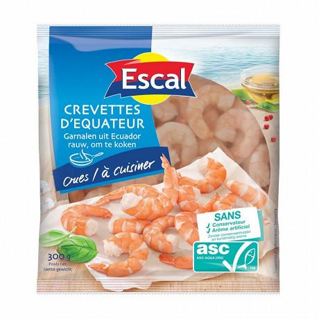 Escal crevettes crues décortiquées 300g