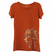 Tee shirt manches courtes femme TERRACOTTA ELEPHANT T50\52