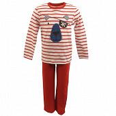 Pyjama long manches longues RAYE ROUGE 8ANS
