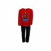 Pyjama garçon velours RED/BLACK 8 ANS