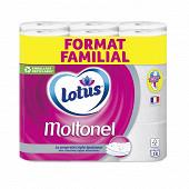 Lotus moltonel papier toilette 18 rouleaux blanc format familial