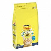 FRISKIES Croquettes pour chat adulte stérilisés Au Saumon et aux Légumes - 4 KG