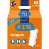 Axal blocs de sel pour adoucisseur d'eau 3x2.5kg